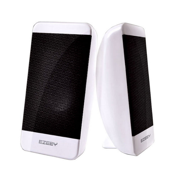 USB Powered Stereo Computer Speakers Superior Bass White (S4)