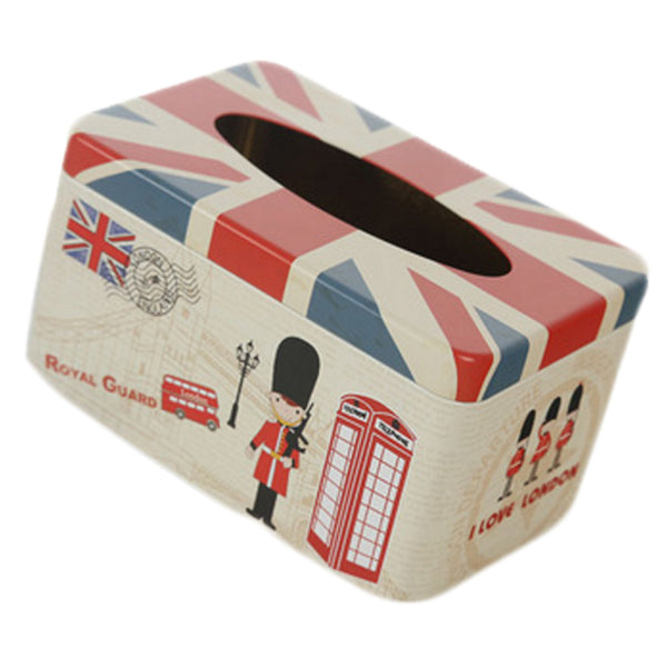 Tin Tray 200 Pumping Paper Tissues Creative Storage Box   Guard