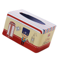 Tin Tray 200 Pumping Paper Tissues Creative Storage Box   Security