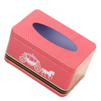Tin Tray 200 Pumping Paper Tissues Creative Storage Box   Small Carriage