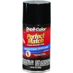 Perfect Match Automotive Paint, Toyota Black Metallic, 8 oz Aerosol Can