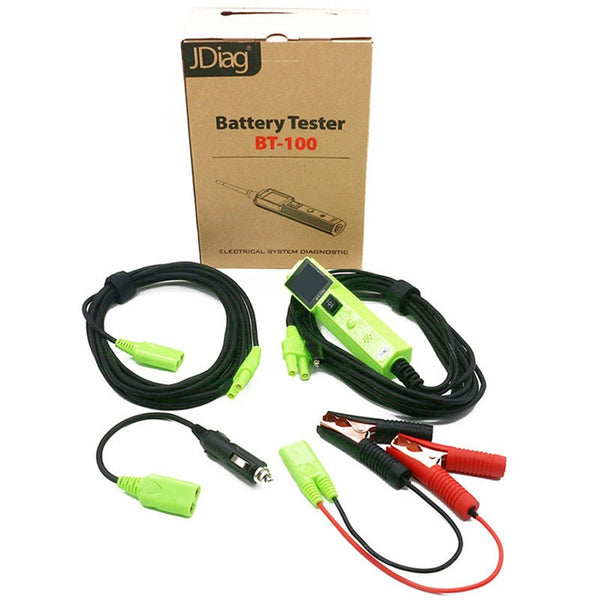 JDiag BT-100 Battery Tester BT100 Electrical System Circuit Tester With Automotive Tools