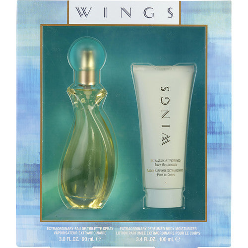 WINGS by Giorgio Beverly Hills EDT SPRAY 3 OZ & BODY LOTION 3.4 OZ