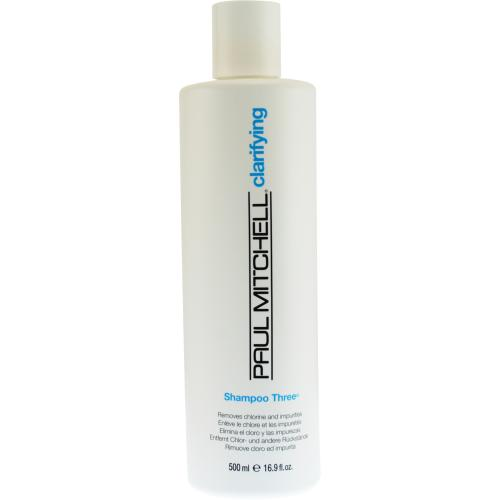 PAUL MITCHELL by Paul Mitchell SHAMPOO THREE REMOVES CHLORINE AND IMPURITIES 16.9 OZ
