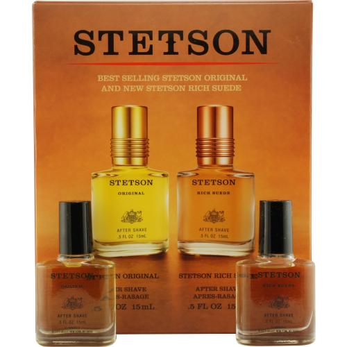 STETSON VARIETY by Coty 2 PIECE VARIETY WITH STETSON & STETSON RICH SUEDE AND ALL ARE AFTERSHAVE .5 OZ