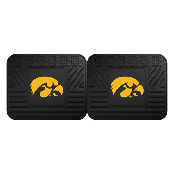 Fanmats University of Iowa Backseat Utility Mats 2 Pack