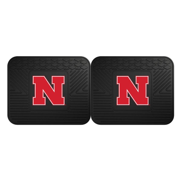 University of Nebraska Backseat Utility Mats 2 Pack
