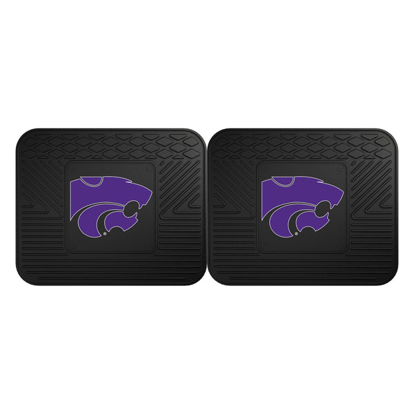 Fanmats Kansas State University Backseat Utility Mats 2 Pack