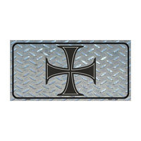 Maltese Cross Novelty Vanity Metal License Plate Tag Sign