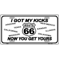 Route 66 I Got MY Kicks Novelty Vanity Metal License Plate Tag Sign