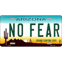 NO FEAR Arizona Novelty State Background Vanity Metal License Plate Tag Sign Closeout