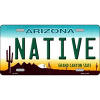NATIVE Arizona Novelty State Background Vanity Metal License Plate Tag Sign
