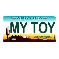 MY TOY Arizona Novelty State Background Vanity Metal License Plate Tag Sign