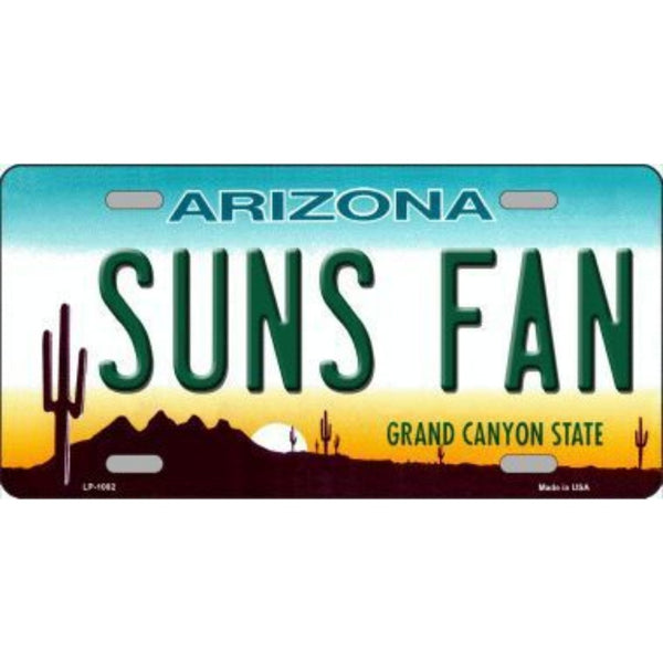 SUNS FAN Arizona Novelty State Background Vanity Metal License Plate Tag Sign