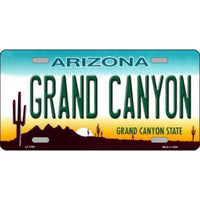 GRAND CANYON Arizona Novelty State Background Vanity Metal License Plate Tag Sign