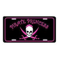Pirate Princess Novelty Vanity Metal License Plate Tag Sign