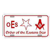 Order Of The Eastern Star Novelty Vanity Metal License Plate Tag Sign