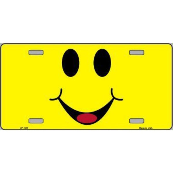Happy Smiley Novelty Vanity Metal License Plate Tag Sign