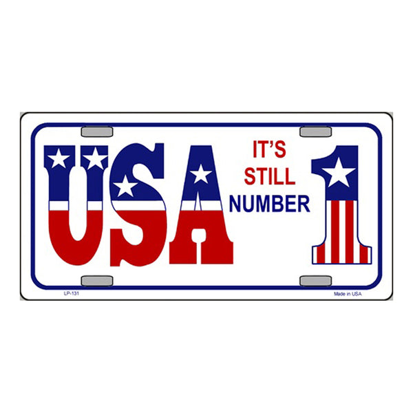 USA Still #1 Novelty Vanity Metal License Plate Tag Sign