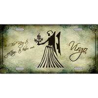 Virgo Zodiac Novelty Vanity Metal License Plate Tag Sign