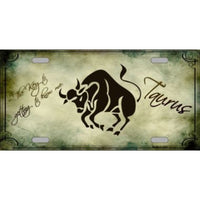 Taurus Zodiac Novelty Vanity Metal License Plate Tag Sign