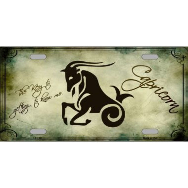 Capricorn Zodiac Novelty Vanity Metal License Plate Tag Sign