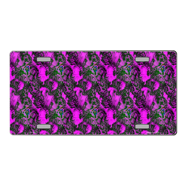 Purple Vortex Customizable Vanity Metal Novelty License Plate Tag Sign