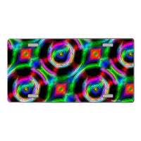 Psychedelic Kaleidoscope Customizable Vanity Metal Novelty License Plate Tag Sign