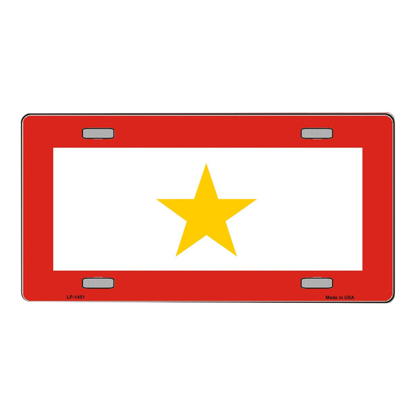 Gold Star Mother (One) Vanity Metal Novelty License Plate Tag Sign