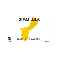 Guam Novelty State Background Customizable Vanity Metal License Plate Tag Sign