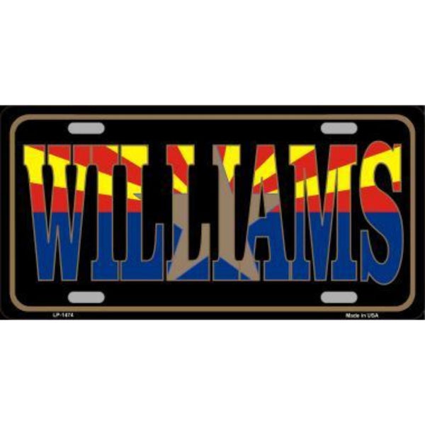 WILLIAMS Arizona State Flag Vanity Metal Novelty License Plate Tag Sign