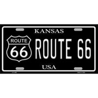 Route 66 Kansas Vanity Metal Novelty License Plate Tag Sign