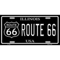 Route 66 Illinois Vanity Metal Novelty License Plate Tag Sign