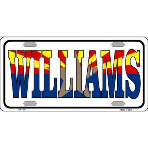 WILLIAMS Arizona Flag White Background Vanity Metal Novelty License Plate Tag Sign