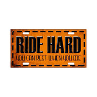 Ride Hard Wholesale Metal Novelty License Plate Lp-384