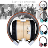 Bluetooth Headphones Over Ear Stereo Wireless Headset With Microphone TF