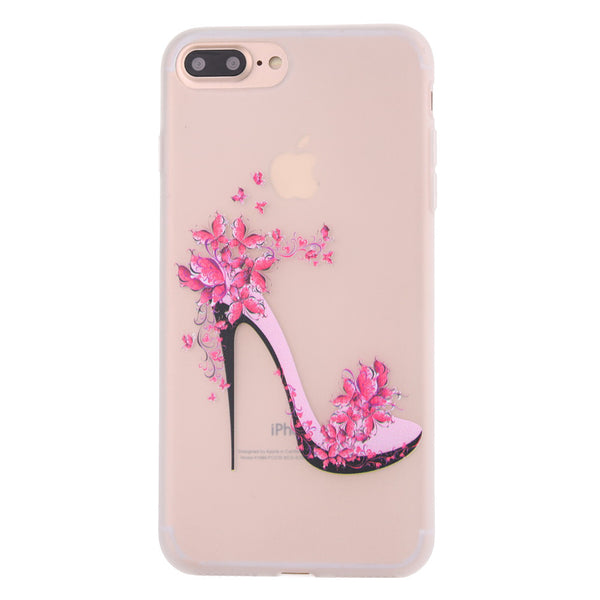 Ultra-thin Frosted TPU Protective Cover High Heels Printed Flexible Soft Impact-resistant TPU Cell Phone Case for iPhone 7 Plus