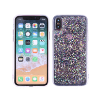 Glitter Soft Flexible TPU Protective Cover Floral Patterns Printed Shock-proof Impact-resistant Non-Slip TPU Cell Phone Case for iPhone X