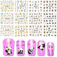 SWEET TREND 12 Designs in 1 Set Cute Animal Style Nail Art Decoration Tips Watermark Stickers Nail Art Tools  BEA1249-1260