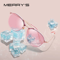 MERRYS DESIGN 2019 Women Classic Retro Oval Sunglasses Ladies Trending Sunglasses Pink Mirror Lens UV400 Protection S6414