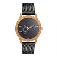 Fashion Nature Wooden Grain Leisure Minimalism Dial Silicone Strap Quartz Watch