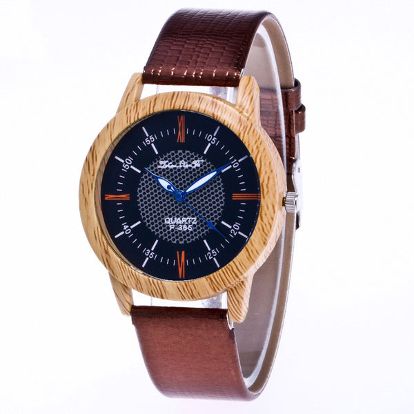 Women'S And Men'S Watch Leather Wood Table Trend