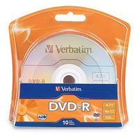 Verbatim 4.7GB 16x Branded Recordable DVD-R Disc (10 Pack)