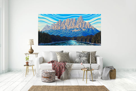 "Castle Mountain, 36""X72"""