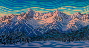 "Deep Freeze, Fernie, 12""X22"", Print on Canvas"