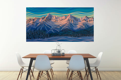 "Deep Freeze, Fernie, 32.5""X60"", Print on Canvas"