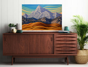"Foothills and Peak,24""X36"",  Original Painting"