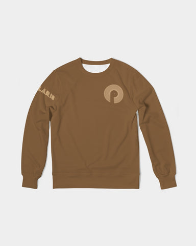 Men's Classic French Terry Crewneck Pullover-Brown
