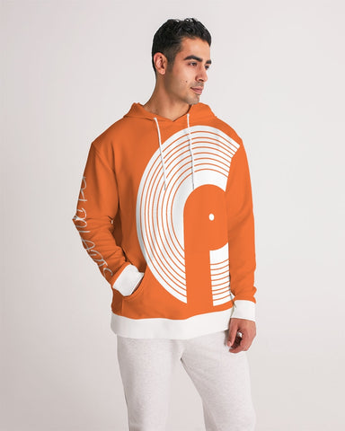 Lux Men's Hoodie- Red Orange