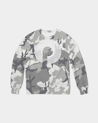 Men's Classic French Terry Crewneck Pullover-Camo
